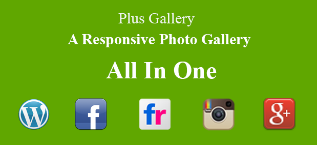 A responsive photo gallery - All in one